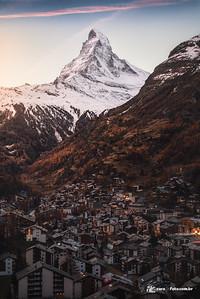 Matterhorn visto de Zermatt, Suíça