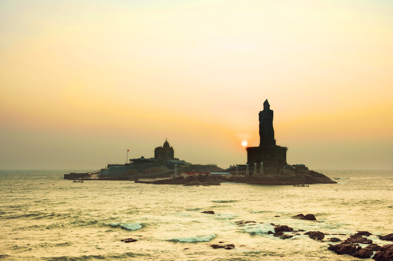 A Beautiful Sunrise On The Southern Tip Of India