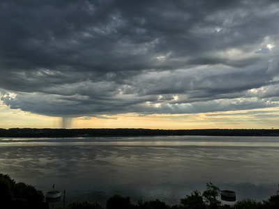 Distant Shower - Mississippi River