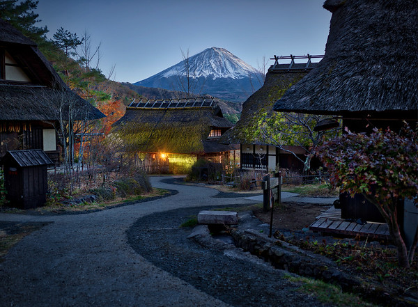A Night View Of Mount Fuji