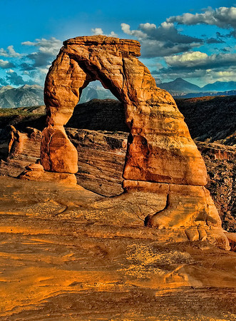 Delicate Arch at sunset, Moab, Utah.