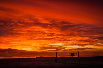 Sunset Venice Jetty Winter 2019