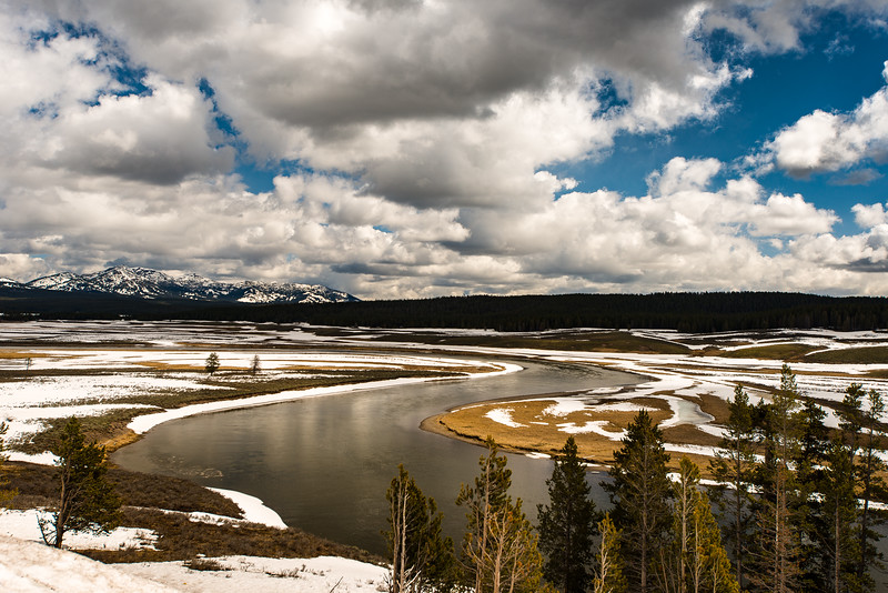 The S curve on the Yellowstone River.  May 2014
