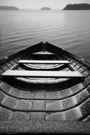 Waiting For An Adventure I (Wooden Rowing Boat)