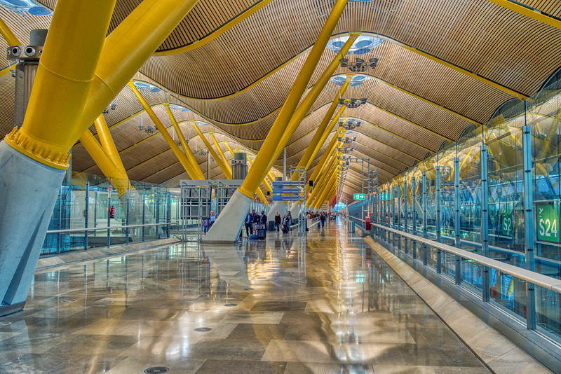 The Airport In Madrid