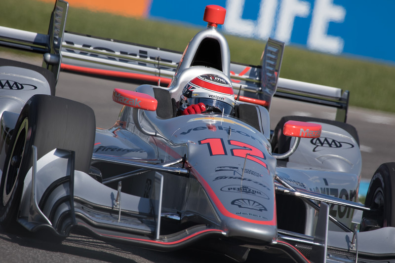 Will Power wins the pole for the 4th annual IndyCar Grand Prix. - Indianapolis, IN, May 12, 2017 - © Jason Porter Media