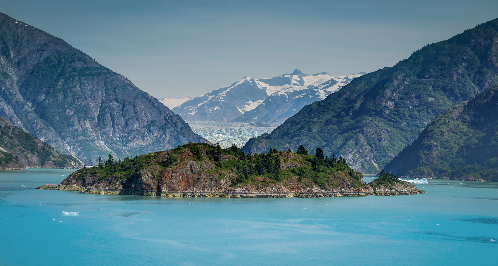 Island in the Alaskan Fjord