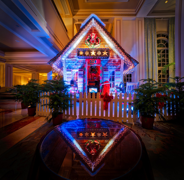 Huge Gingerbread House In Naples
