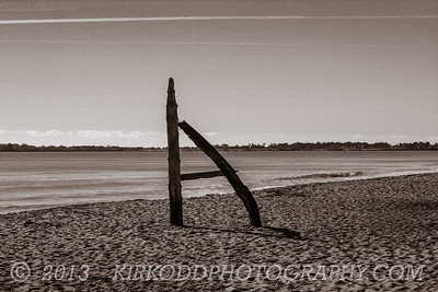 Driftwood Monument, Ferry Beach, Maine