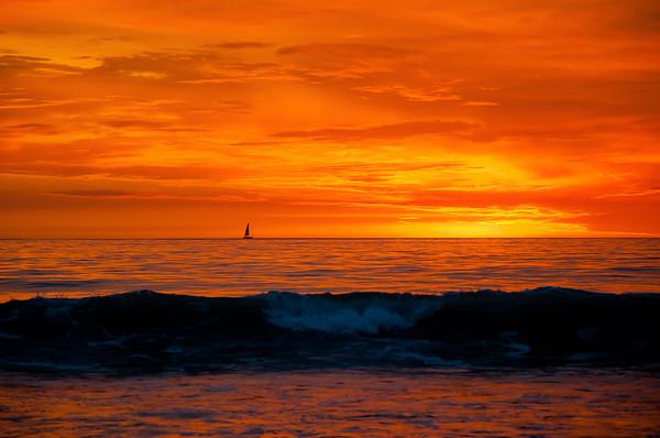 Orange Sunset Horizon