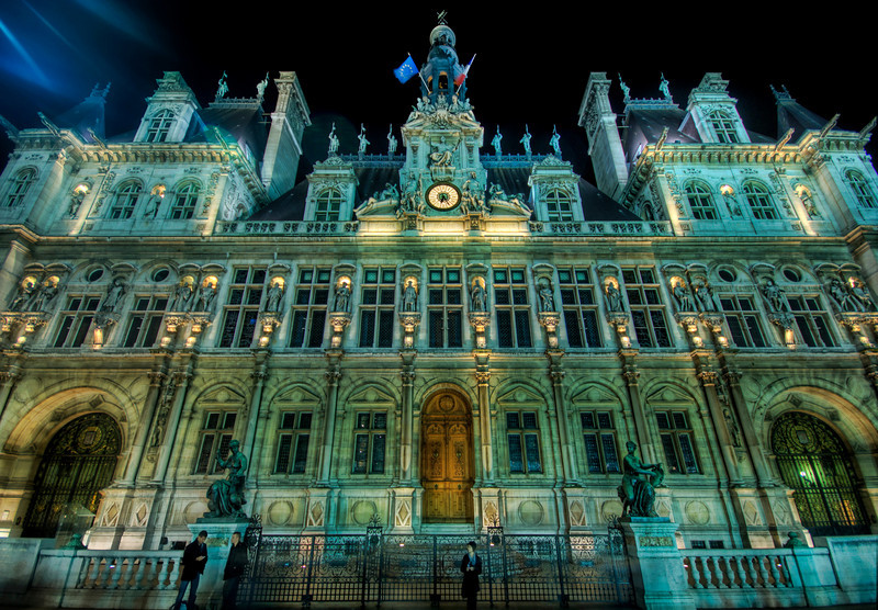 "<h2>Liberte, Egalite, Fraternite - L'Hôtel de Ville in Paris</h2> <br/>Here is a shot of the Hôtel de Ville, just about a 15 minute walk at midnight from Notre Dame, where I had just shot a stirring sunset shot. I wish I could freeze sunset and run around and hit every landmark at the same time… but since it's impossible… I suppose I just have to go back another time. Anyone want to join me?<br/><br/>- Trey Ratcliff<br/><br/><a href=""http://www.stuckincustoms.com/2008/11/30/liberte-egalite-fraternite-le-hotel-de-ville-in-paris/"" rel=""nofollow"">Click here to read the rest of this post at the Stuck in Customs blog.</a>"