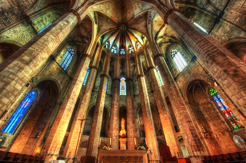 The Sanctum of the Santa María del Mar Cathedral Here is another amazing place in Barcelona, Spain -- this is the famed Santa María del Mar Cathedral. I do like taking photos in these old churches, and I hope one day to photograph the inside of the Sagrada Família.  It's still under construction, and I think getting the right kind of permission is fairly difficult.  I'd like to be there at the perfect time of day with just the right kind of lighting.  I don't mind all the construction going on -- I think something pretty amazing could come out of the shot.  Anyway, this is one of those things on my personal photo bucket-list!- Trey RatcliffClick here to read the rest of this post at the Stuck in Customs blog.