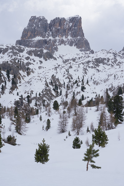 Cinque Torri hike in 1m of snow, Dolomiti, Italy, 2019