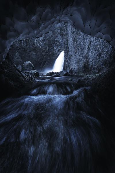 Winter at Wahclella Falls