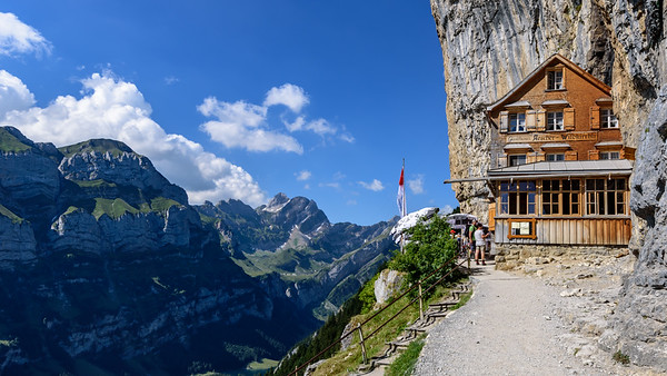 Famous Restaurant in the Swiss Alps