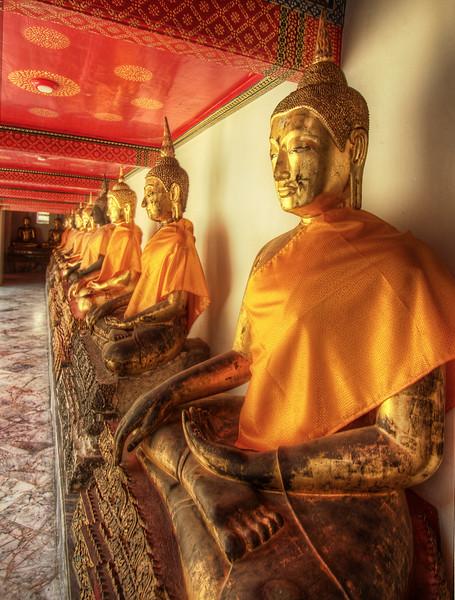 A Row of Buddhas