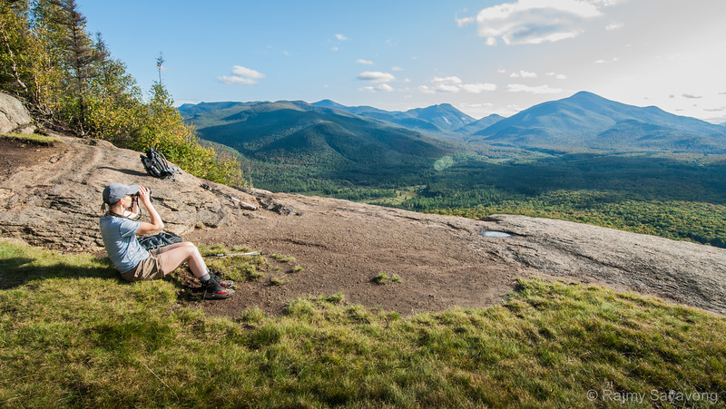 Taking in the views from Cascade Mountain Trail