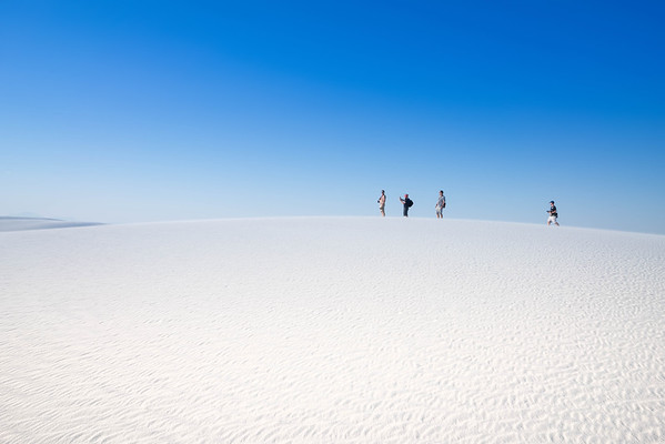 Walking Through White Sands