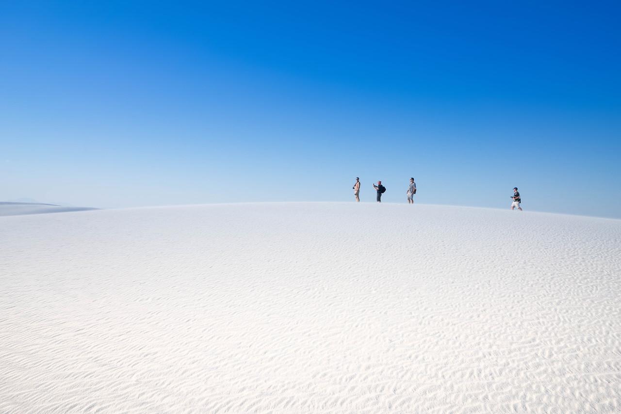 Walking Through White Sands