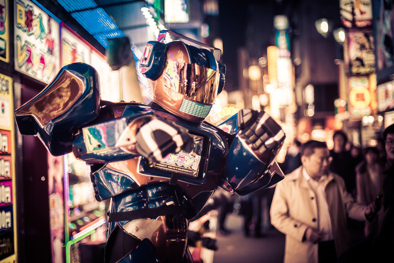 """<h2>Robots in the Streets of Tokyo!</h2> <br/>Someone gave me a hot tip to go see this cool robot area of Tokyo! There's a place called the Robot Restaurant, and it's one of the craziest places I have ever been!<br/><br/>It's basically like Medieval Times, but with robots and girls in bikinis.<br/><br/>Outside the Robot Restaurant, they have all these awesome-looking robots with iPads on their chests. There are people inside, which is kind of a disappointment, but also kind of a relief. Either way, they are pretty awesome!<br/><br/>- Trey Ratcliff<br/><br/><a href=""""http://www.stuckincustoms.com/2013/05/13/robots-in-the-streets-of-tokyo/"""" rel=""""nofollow"""">Click here to read the rest of this post at the Stuck in Customs blog.</a>"""