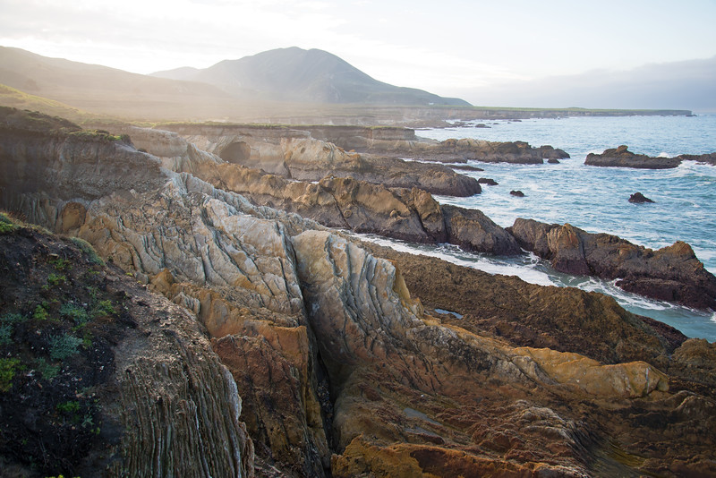 Dramatic geology in Montana de Oro State Park on California's Central Coast.