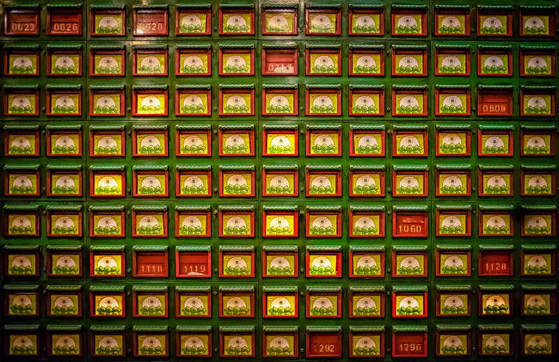 Little Boxes in a temple in Hong Kong