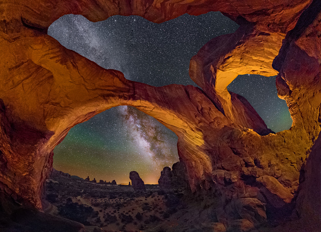 Inside Double Arch