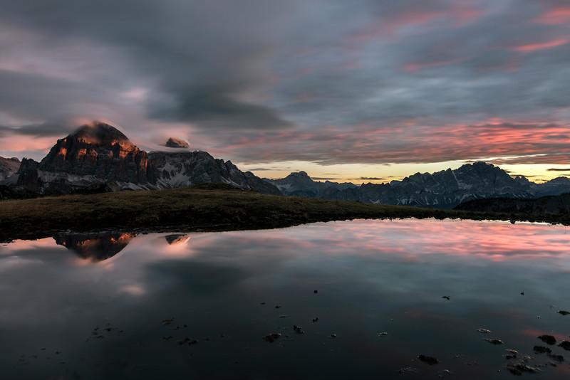 Sunrise on the Passo Giau