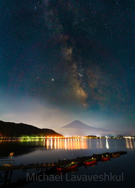 Mt. Fuji and the Milky Way