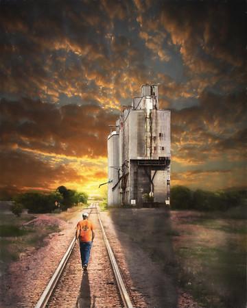 Tracks by the Grain Elevator