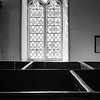 Window and boxed pews
