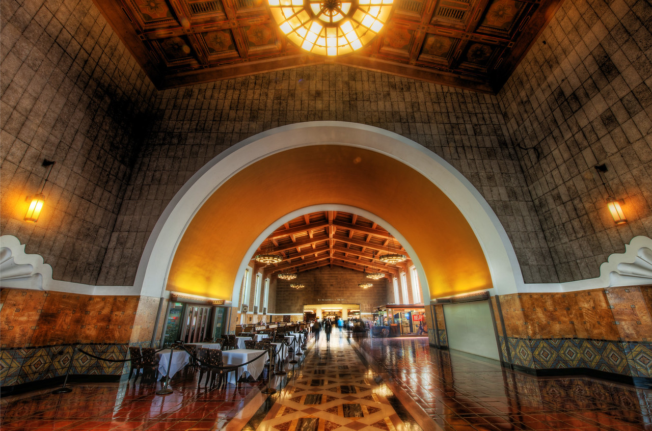 The Old Train Station in Los Angeles Here's another place I found thanks to sweet Stuck On Earth. I think LA has a bunch of these places that are kinda secret – sort of hidden away and no one would ever find them. For example, I can't think of a reason I would ever go into the train station in Los Angeles. Maybe if trains were a bit better in the US, then I would have occasioned them… anyway, I'm glad I found out about this place.Tom and I went in here and had a fun time shooting. We were approached by security because of our tripods. We thought we were in heap-big-trouble, but it turns out they brought a form to sign right there on the spot. How convenient!- Trey RatcliffClick here to read the rest of this post at the Stuck in Customs blog.