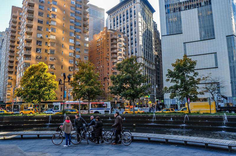 Biking Columbus Circle