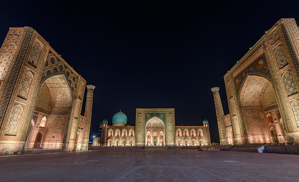 The Registan at night || Samarkand