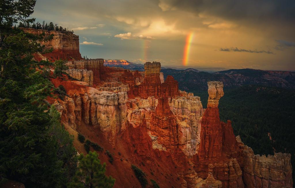 Rainbow Over Bryce Canyon