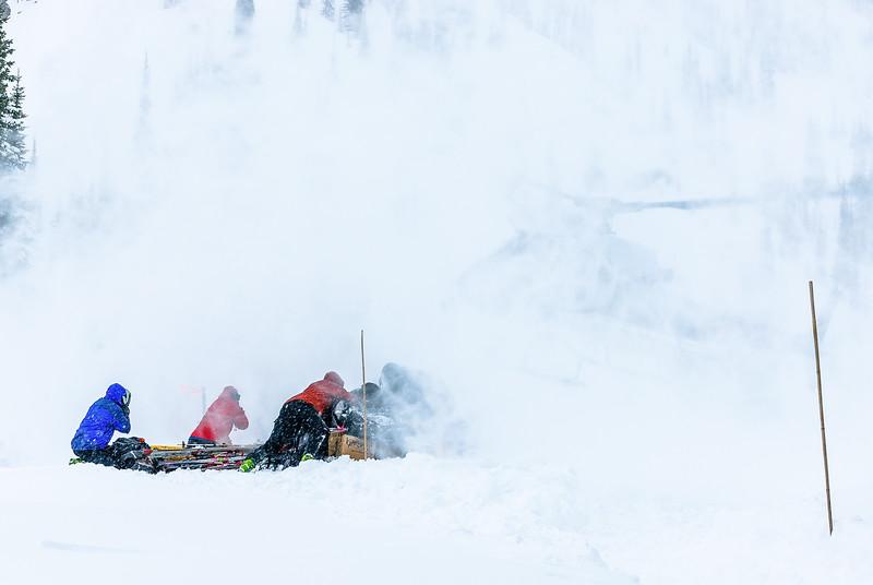 Incoming heli, Kokanee Provincial Park, British Columbia