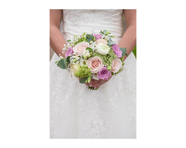 Wedding Photography of Louise & Jason, Dumfries House, Scotland, Photograph is of the Brides flowers in close up