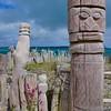 Wood carvings at S. Maurice Bay near Vao.