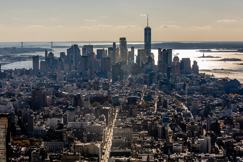 Financial District and New York Harbor