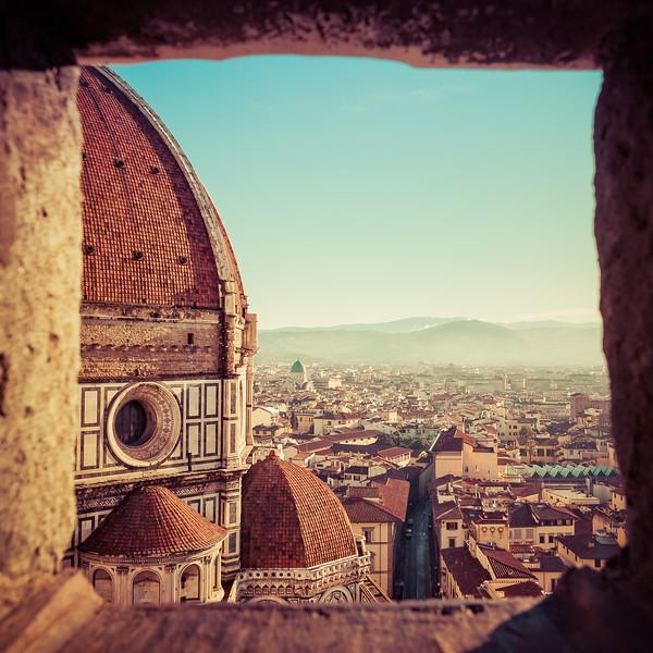 A Glimpse of the Dome of Santa Maria del Fiore
