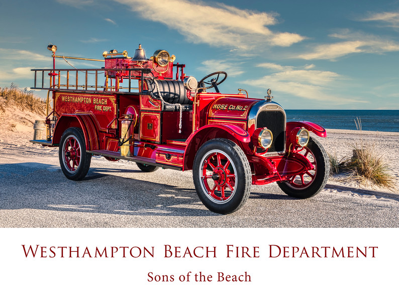 WHBFD Antique at Beach Poster