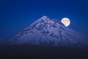 Moonrise on Mount Hood, Oregon