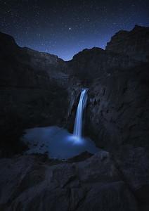 Havasau Falls at Night
