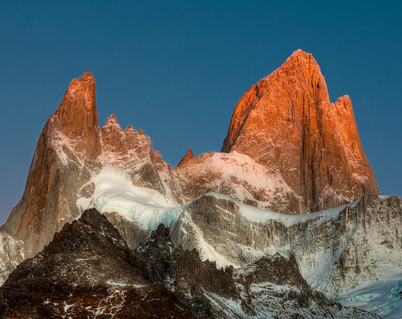 Where the Sky is Torn Asunder The morning sun sprayed orange across the top of Fitz Roy, and I could feel those sharp tips slicing into the cold sky. It was really an unbelievable experience being there at the perfect time; I feel very lucky indeed.- Trey RatcliffClick here to read the rest of this post at the Stuck in Customs blog.