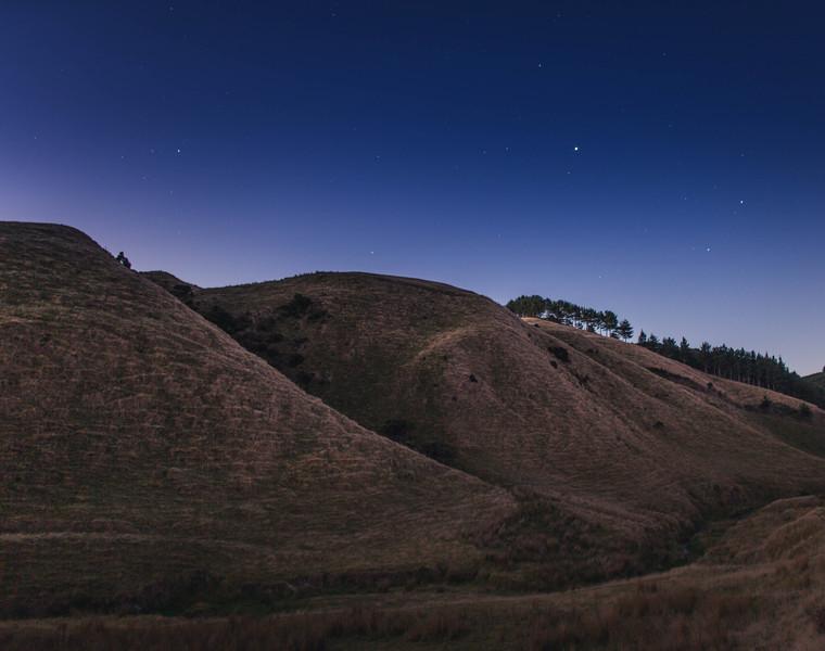 Twilight in the Makara Highlands