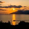 Kefalonia sunrise overlooking Ithaca
