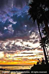 Colorful Sunset in Laguna Beach