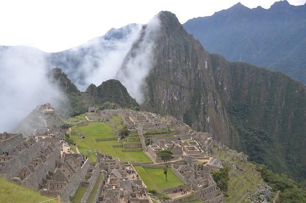 First glimpse of Machu Picchu
