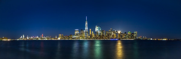 Moonrise NYC Panorama
