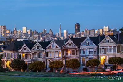 Sunset @Alamo Square (San Francisco)